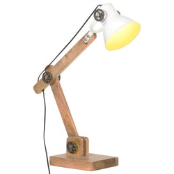 Skrivbordslampa industriell vit rund 58x18x90 cm E27