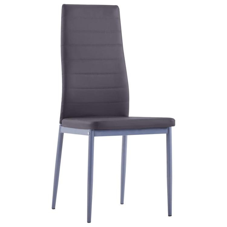 Matbord och stolar 5 delar grå