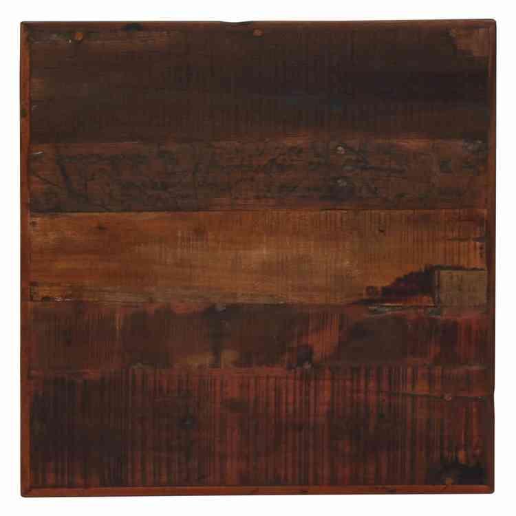 Barbord massivt återvunnet trä mörkbrunt 60x60x107 cm