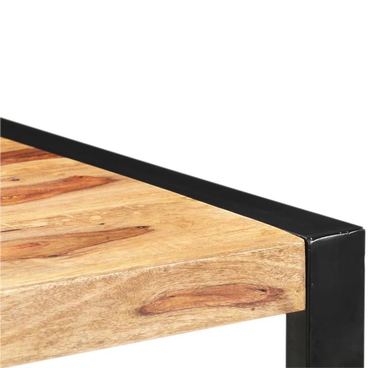 Barbord 110x60x110 cm massivt shesham