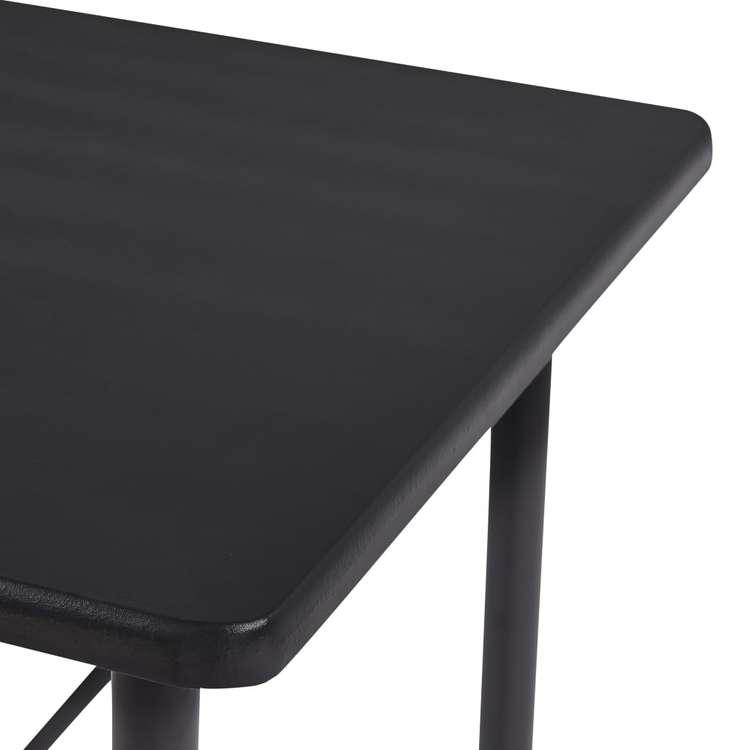 Barbord svart 120x60x110 cm MDF