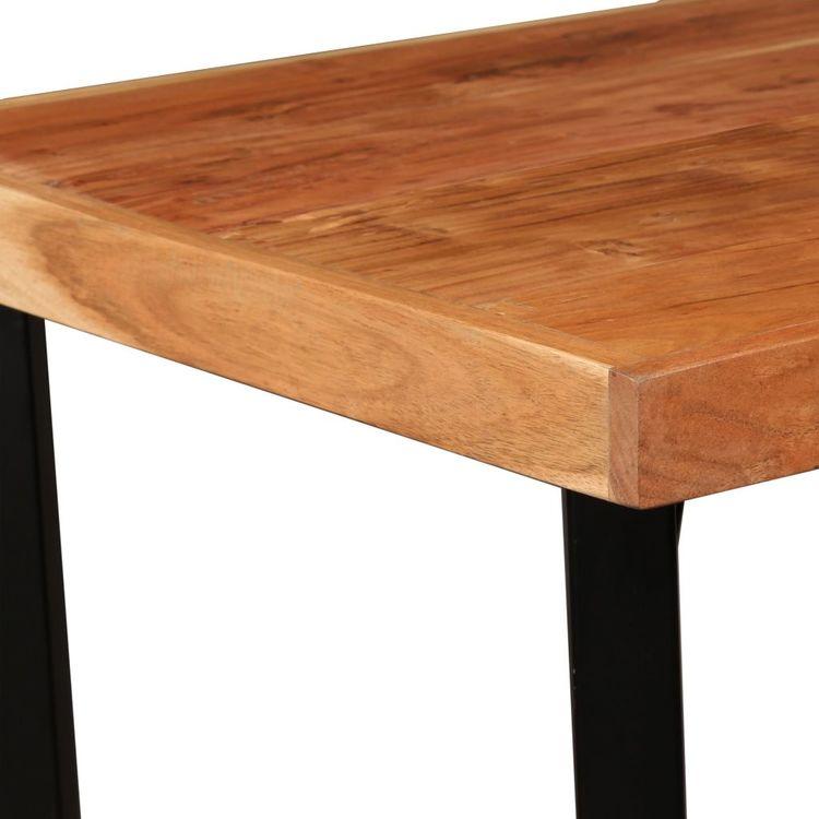 Barmöbler 3 delar massiv akacia och äkta läder