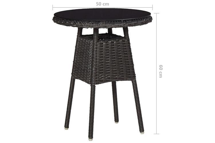 Caféset med dynor 3 delar konstrotting svart