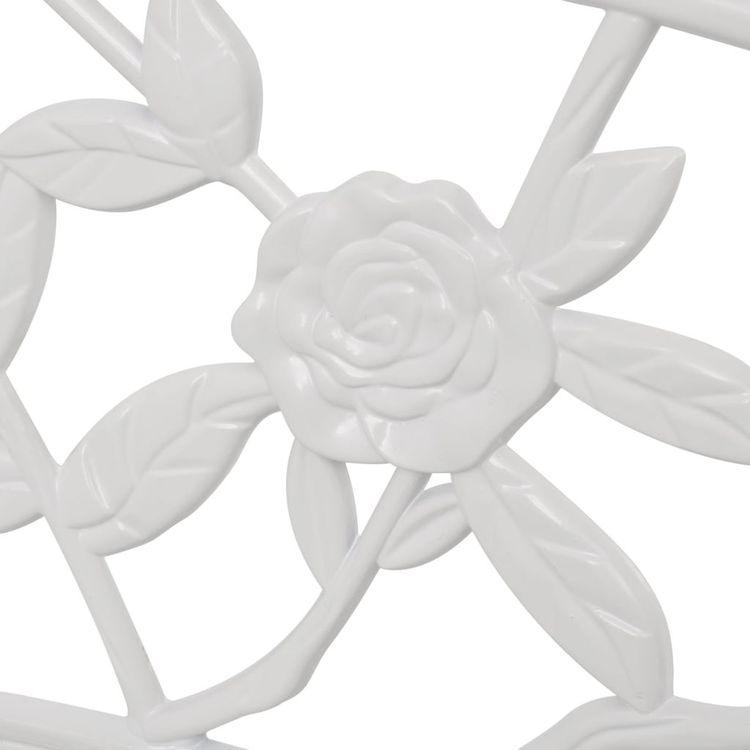 Trädgårdsbänk 100 cm gjuten aluminium vit