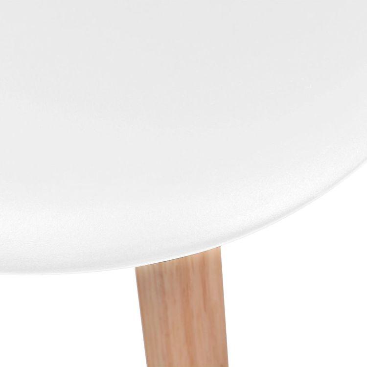 Matstolar 6 st vit plast