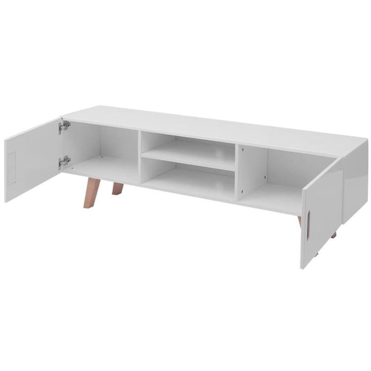 TV-bänk MDF 150x35x48,5 cm högglans vit