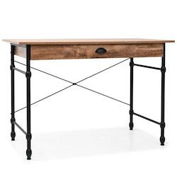 Skrivbord med låda 110x55x75 cm ekfärg