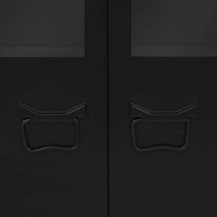 Skänk industriell stil metall 120x35x70 cm svart