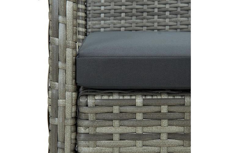 Trädgårdsstol med dyna konstrotting grå