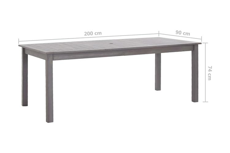 Trädgårdsbord 200x90x74 cm massivt akaciaträ