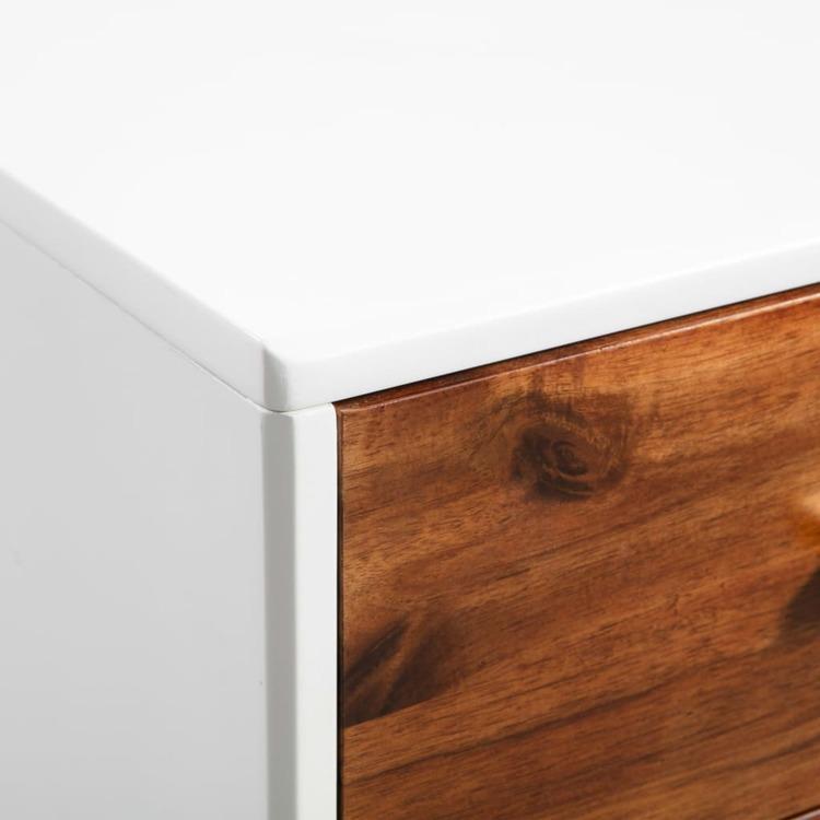 Skänk massivt akaciaträ 90x33,5x83 cm