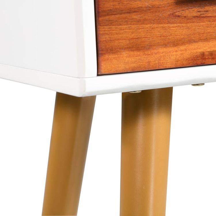 Konsolbord massivt akaciaträ 70x30x75 cm