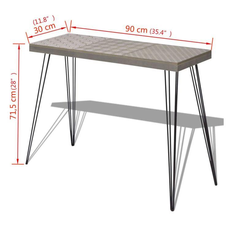 Konsolbord 90x30x71,5 cm grå
