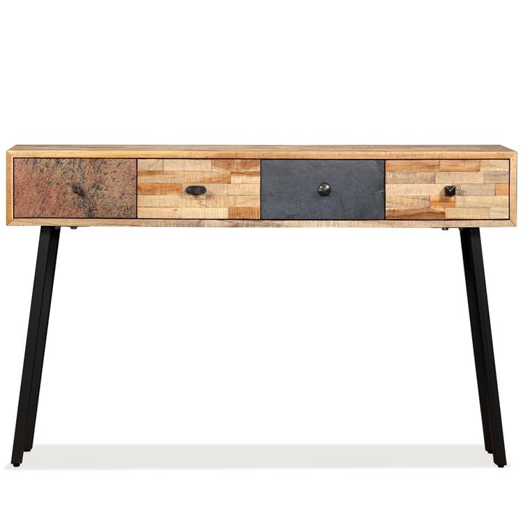 Konsolbord massivt återvunnet teakträ 120x30x76 cm