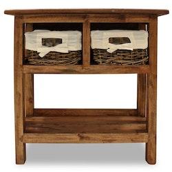 Konsolbord massivt återvunnet trä 69x28x70 cm