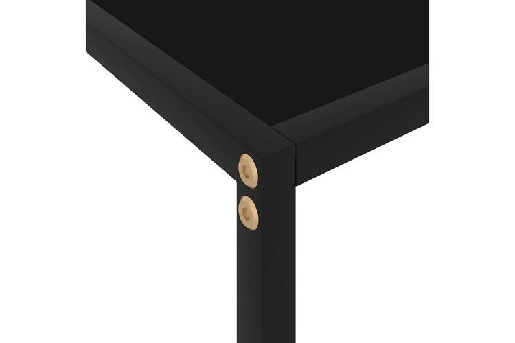 Konsolbord svart 60x35x75 cm härdat glas
