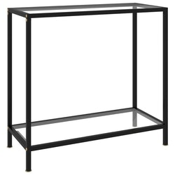 Konsolbord transparent 80x35x75 cm härdat glas