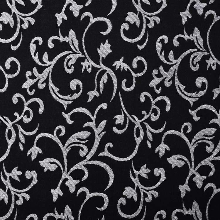 Schäslong med blommigt tyg svart och vit