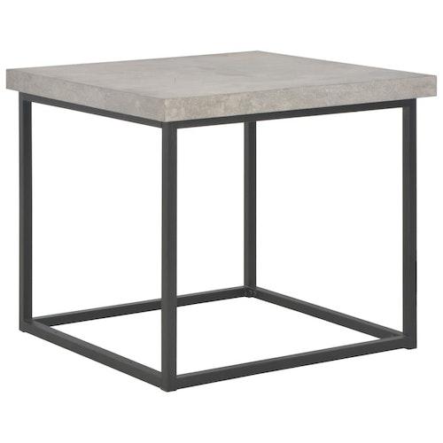 Soffbord 55x55x53 cm betongfärg