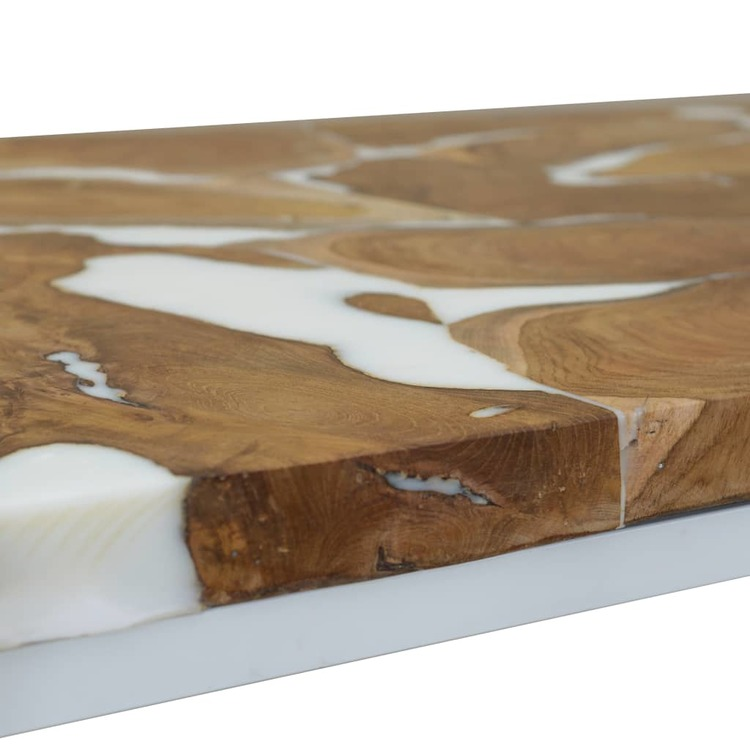 Soffbord teak och harts 110x60x40 cm