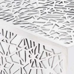 Soffbord geometrisk design aluminium silver