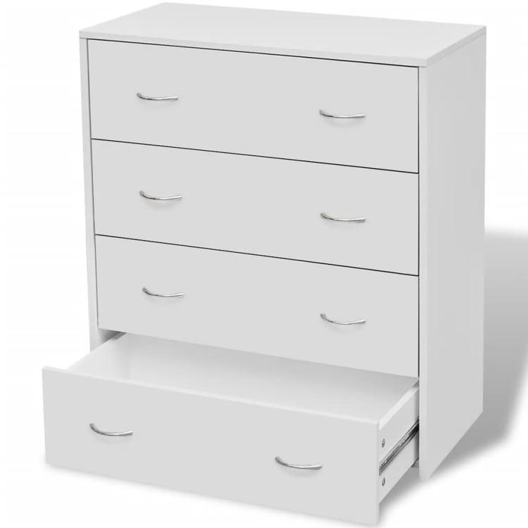 Byrå med 4 lådor 60x30,5x71 cm vit