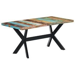 Matbord 160x80x75 cm massivt återvunnet trä