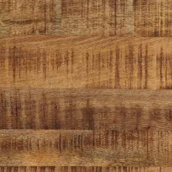 Matbord massivt grovt mangoträ och stål 120 cm