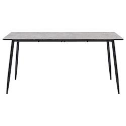 Matbord grå 140x70x75 cm MDF