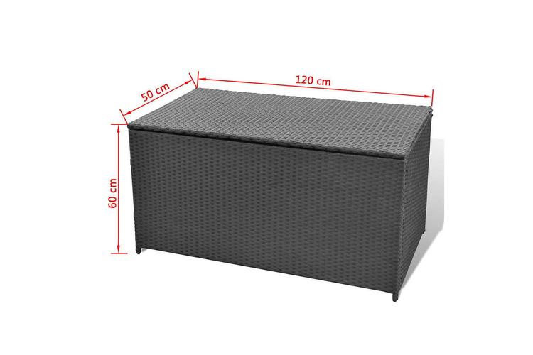 Dynbox 120x50x60 cm konstrotting svart