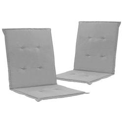 Stolsdynor för trädgården 2 st grå 100x50x3 cm