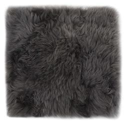 Sittdynor 2 st ljusgrå 40x40 cm äkta fårskinn