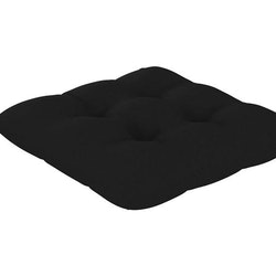 Stolsdynor 4 st svart 50x50x7 cm tyg