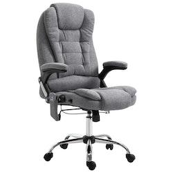 Massagekontorsstol grå polyester