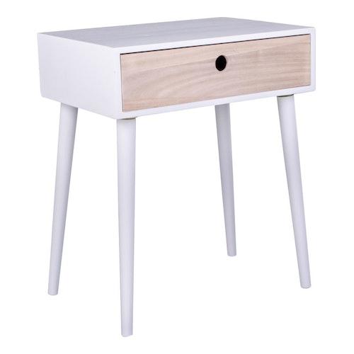 Parma Sängbord Vit Natur 2st