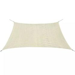 Solsegel HDPE fyrkantigt 2x2 m gräddvit