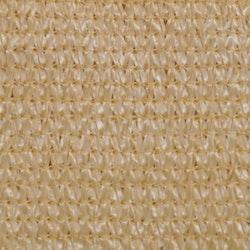 Solskärmssegel HDPE rektangulärt 4 x 6 m beige