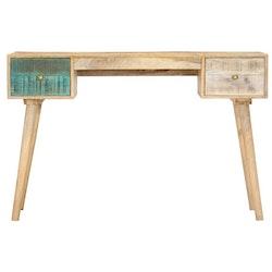 Skrivbord 118x50x75 cm massivt mangoträ