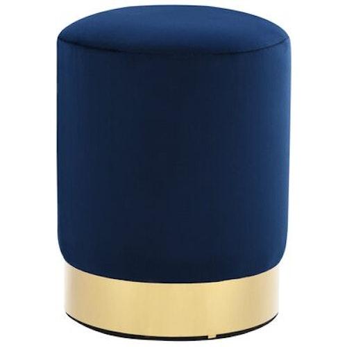 Pall blå och guld sammet