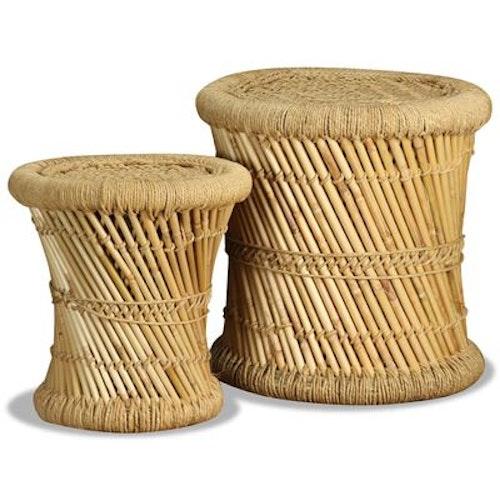 Pallar 2 st bambu och jute