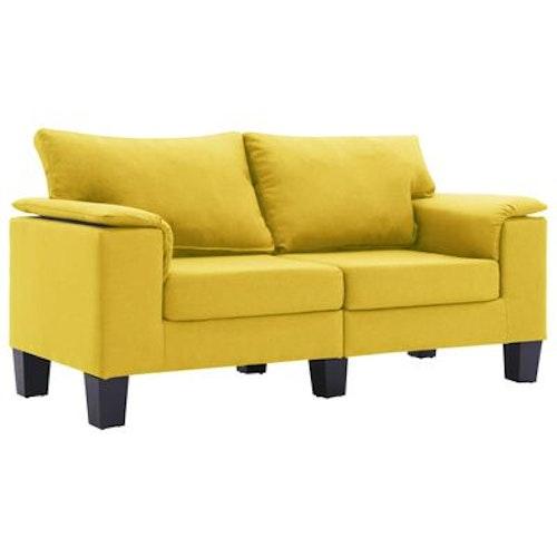 2-sitssoffa gul tyg