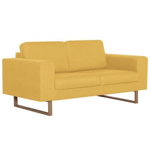 2-sitssoffa tyg gul