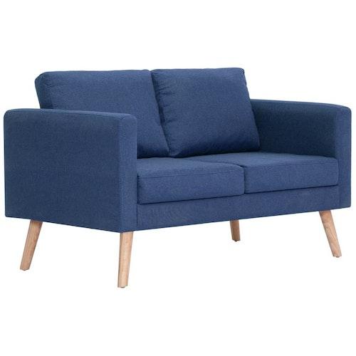 2-sitssoffa tyg blå