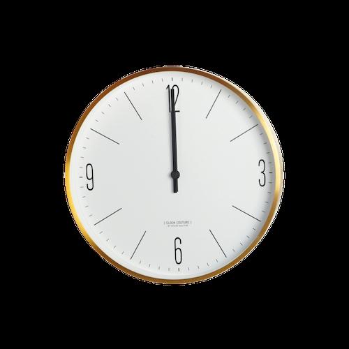 House Doctor Väggur, Clock Couture, Vit/Guld