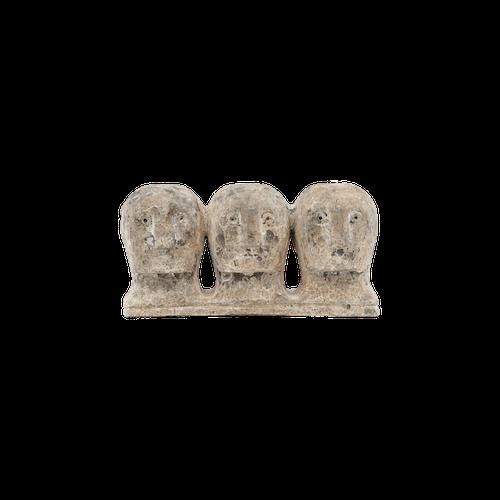 House Doctor Konstverk, Ancient head, Grå/Brun