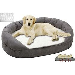 Karlie Ortho hundbädd Oval Grå, finns i 3 storlekar