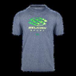 SELKIRK SPORT UA PERFORMANCE MEN'S T-SHIRT BY UNDER ARMOUR Navy w/ Green Logo