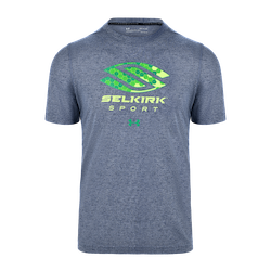 SELKIRK SPORT UA PERFORMANCE MEN'S T-SHIRT BY UNDER ARMOUR Navy w/ Green Logo