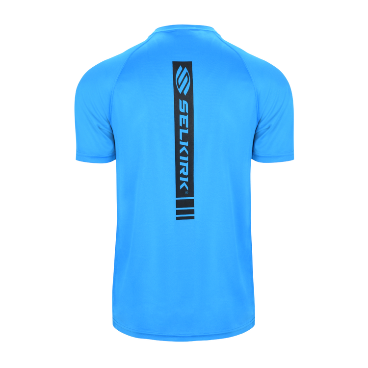 Selkirk Men's Polyester Core Crew T-shirt - Lined DESIGN Blue