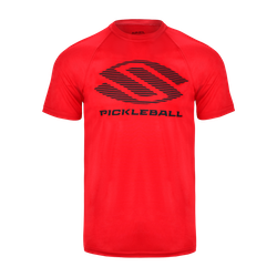 Selkirk Men's Polyester Core Crew T-shirt - Lined DESIGN Red